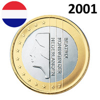 Alankomaat 1 € 2001 Beatrix UNC