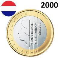 Alankomaat 1 € 2000 Beatrix UNC