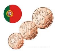 Portugali 1s, 2s & 5s 2002 UNC