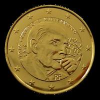Ranska 2 € 2016 François Mitterrand kullattu