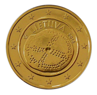 Liettua 2 € 2016 Baltian kulttuuri kullattu