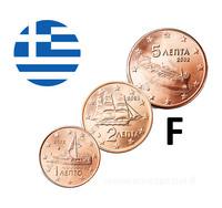 Kreikka 1s, 2s & 5s 2002 UNC F- kirjaimella