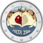 Malta 2 € 2016 Rakkaus väritetty