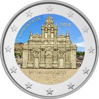 Kreikka 2 € 2016 Arkádi Monastery väritetty