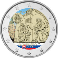 Slovakia 2 € 2017 Universitas Istropolitana väritetty
