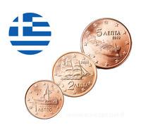 Kreikka 1s, 2s & 5s 2002 UNC