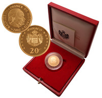 Monaco 20 € 2002 Rainier III Au PROOF