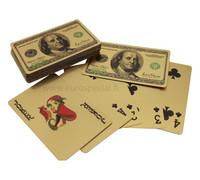 Lehtikullatut 24k pelikortit Yhdysvaltain dollari