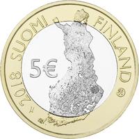Suomi 5 € 2018 Koli, Suomalaiset kansallismaisemat