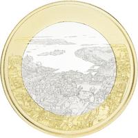 Suomi 5 € 2018 Suomalaiset kansallismaisemat Merellinen Helsinki, Proof