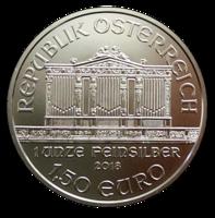 Itävalta 1,50 € 2018 Wiener Philharmoniker 1oz Ag