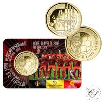 Belgia 2,5 € 2018 Punaiset paholaiset BU coincard