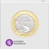 Suomi 5 € 2018 Suomalaiset kansallismaisemat Oulankajoki, Proof