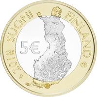 Suomi 5 € 2018 Porvoonjokilaakso. Suomalaiset kansallismaisemat