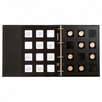 Leuchtturm Matrix-keräilykansio, sis. 5 välilehteä kolikkokehyksille, musta