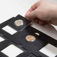 Matrix-säilytyslevyt kolikkokehyksille, musta, 5-pack