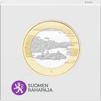 Suomi 5 € 2018 Suomalaiset kansallismaisemat Olavinlinna & Pihlajavesi, Proof