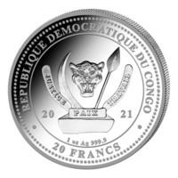 Kongo 2021 Valkopäämerikotka 1oz hopea