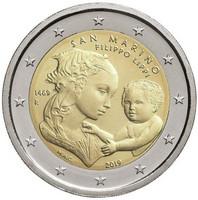 San Marino 2 € 2019 Filippo Lippi 550 v. BU