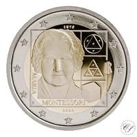 Italia 2 € 2020 Maria Montessori 150 vuotta, Proof