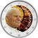 Vatikaanin paavit - Johannes Paavali II 2 € -juhlaraha, väritetty