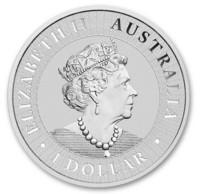 Australia 2021 Kenguru 1 oz hopearaha