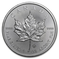 Kanada 2021 Maple Leaf hopearaha 1 oz