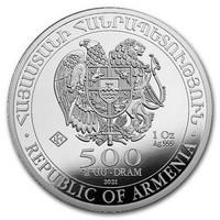 Armenia 2021 Nooan arkki 1 oz hopearaha