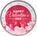 Ystävänpäivä 2 € 2021 juhlaraha, väritetty