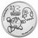 Niue 2020 Pac-Man 40 vuotta 1oz hopearaha