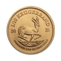 Etelä-Afrikka 2021 Krugerrand 1/10 oz kultaraha