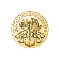 Itävalta 2021 Wienin Philharmoonikot kultakolikko 1/25oz