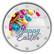 Pääsiäinen 2 € 2021 juhlaraha, väritetty (#1)