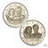 Luxemburg 2 € 2021 Maria Teresan & Henrin häät 40 v., molemmat versiot