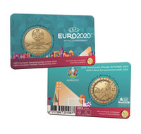 Belgia 2,5 € 2021 UEFA Jalkapallon EM-kisat BU coincard