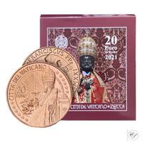 Vatikaani 20 € 2021 Pyhän Pietarin pronssipatsas BU
