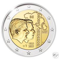 Belgia 2 € 2021 Talousliitto 100 vuotta BU, Proof