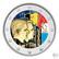 Belgia 2 € 2021 Talousliitto 100 vuotta BU, väritetty (#2)