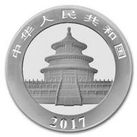 Kiina 10 ¥ 2017 Panda 30g hopearaha