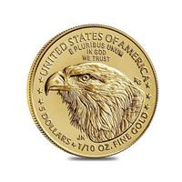 American Eagle 1/10 oz 2021 kultakolikko, uusi design