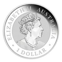 Australia 2021 Kiilapyrstökotka 1oz hopearaha