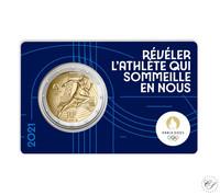 Ranska 2 € 2021 Pariisin olympialaiset 2024 BU coincard