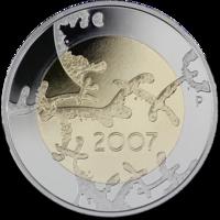 Suomi 5 € 2007 Itsenäisyys 90 vuotta