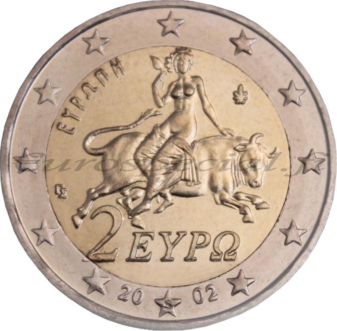 Kreikka 2 € 2002 Zeus & Europa S- kirjain UNC - Eurospecial.fi
