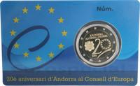 Andorra 2 € 2014 Euroopan Neuvosto 20 vuotta, Proof
