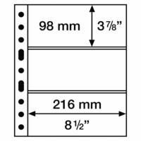 Leuchtturm Grande 3C- välilehti, 5-pack, kirkas