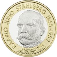 Suomi 5 € 2016 Suomen Presidentit - K.J. Ståhlberg UNC