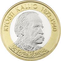 Suomi 5 € 2016 Suomen Presidentit - Kyösti Kallio UNC