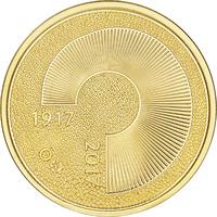 Suomi 100 € 2017 Itsenäinen Suomi 100 vuotta Au, Proof