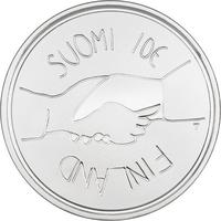 Suomi 10 € 2017 Itsenäinen Suomi 100 vuotta Ag, Proof
